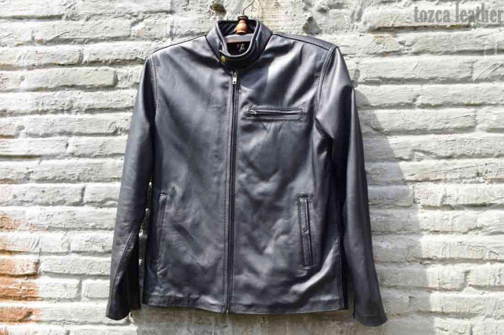 menjemur jaket kulit asli suakregang