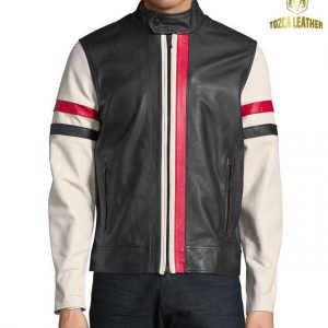 Jaket Kulit Kombinasi Warna KP123